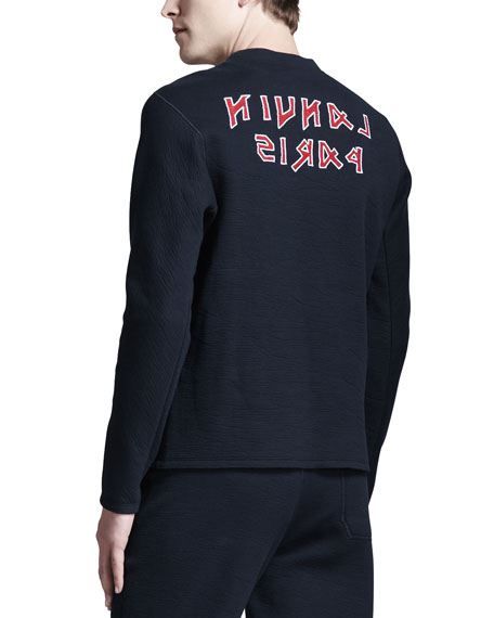 Logo Jersey Sweatshirt, Navy