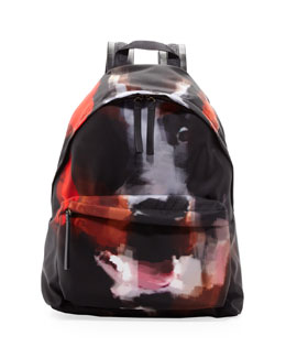 Givenchy Doberman-Print Canvas Backpack