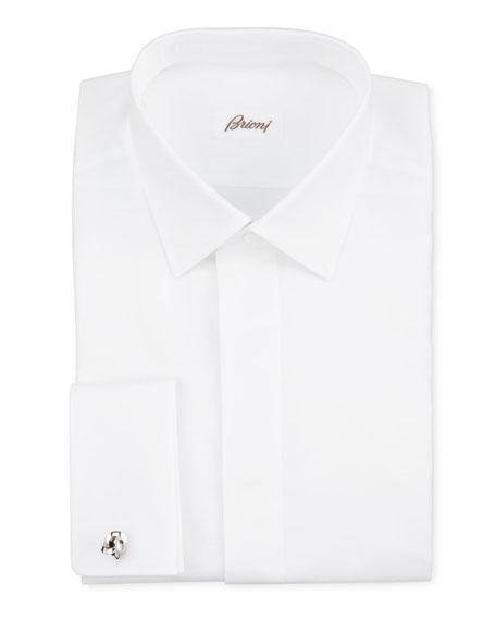 Oxford French-Cuff Dress Shirt, White