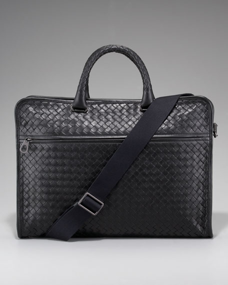 Bottega Veneta Slim Woven Briefcase