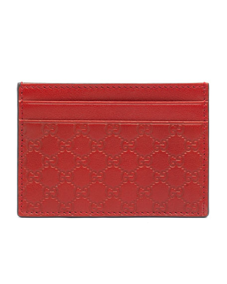 71afe47abb41 Gucci Microguccissima Leather Money Clip, Red