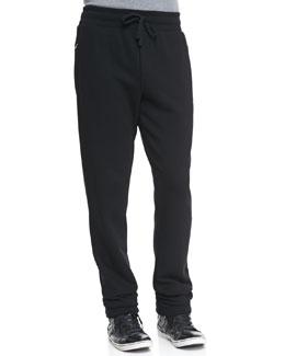 Dolce & Gabbana Sweatpants with Logo Plaque, Black