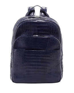 Santiago Gonzalez Crocodile Backpack, Royal Blue