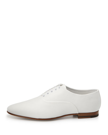 Lulu Canvas Oxford Shoe, White