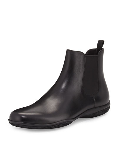 Rubber-Sole Chelsea Boot, Black
