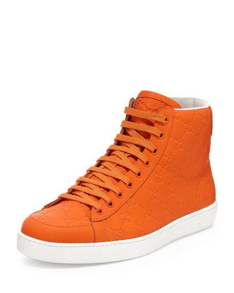 aaab1f78834 Gucci Brooklyn Guccissima High-Top Sneaker