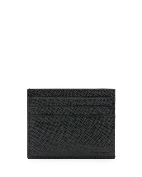 Saffiano Card Case, Black