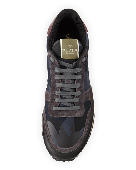 camouflage print sneakers - Blue Valentino H2LCcx6cO2