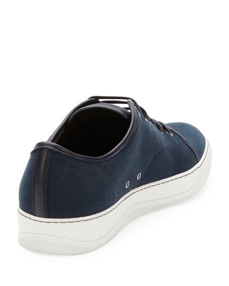 Men's Canvas Low-Top Sneakers, Navy