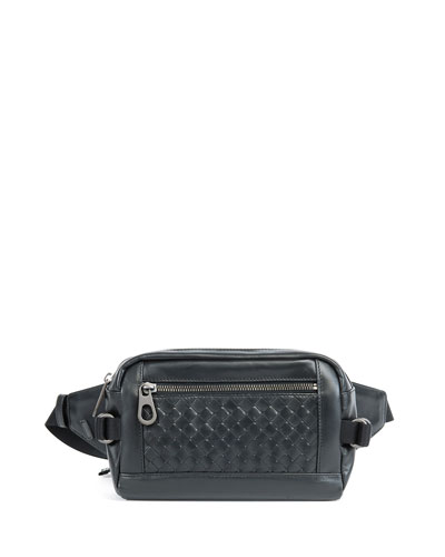 Intrecciato Leather Belt Bag
