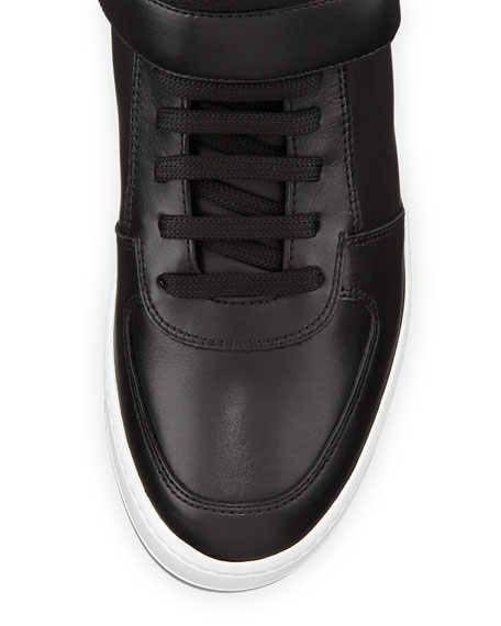 High-Top Sneaker with Side Gancini, Black