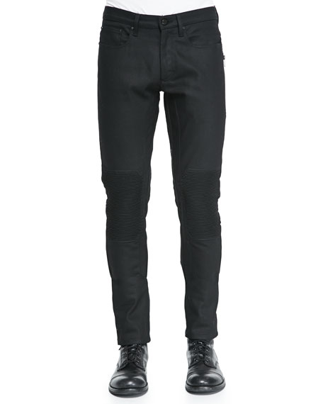 Belstaff Blackrod Raw Stretch Denim Jeans, Black