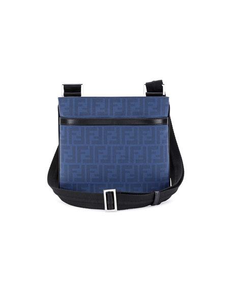 bdfd005302b Fendi Zucca Small Coated Messenger Bag, Blue