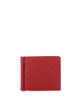 Microguccissima Money Clip Wallet