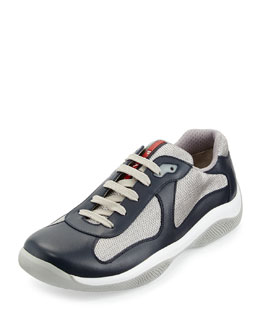 America's Cup Leather Sneaker, Blue