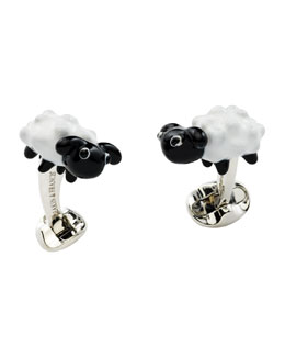 Sheep Sterling Silver Cuff Links