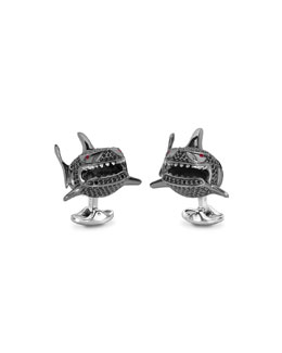 Small Shark Cuff Links