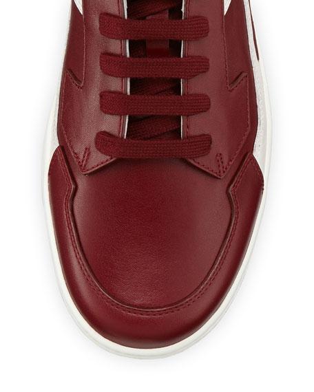 High-Top Side-Zip Sneaker, Red