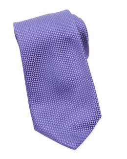Micro-Check Check Tie, Purple