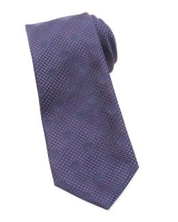 Tonal Polka-Dot Tie, Navy