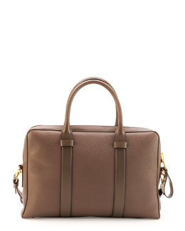 Buckley Zip Briefcase, Brown