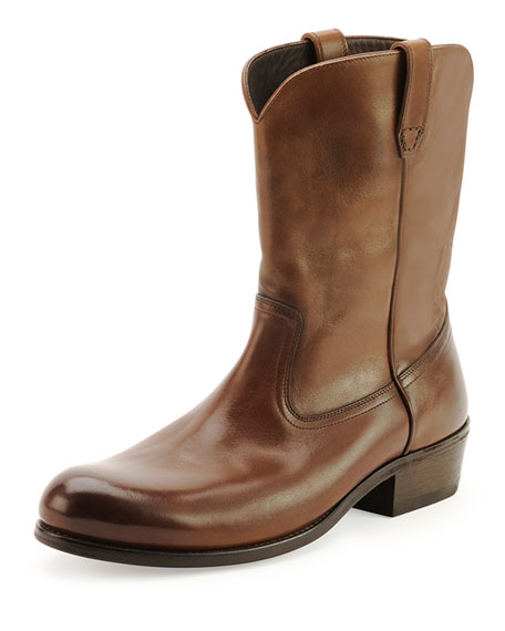 Christopher Leather Cowboy Boot, Brown