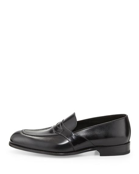 Charles Leather Penny Loafer, Black
