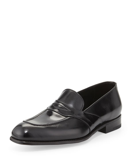 TOM FORD Charles Leather Penny Loafer, Black