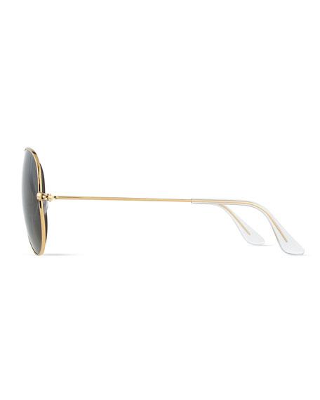 Original Aviator Polarized Sunglasses, Gold/Green