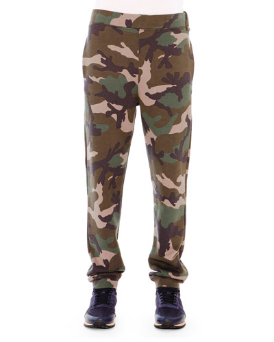 Camo-Style Sweatpants, Green