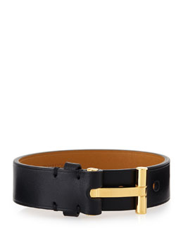 Leather Nashville Bracelet, Black