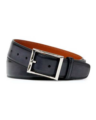 Venezia Leather Belt, Black
