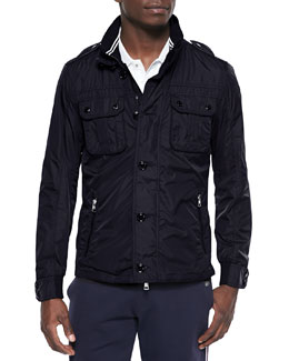 Mate Nylon Field Jacket, Navy