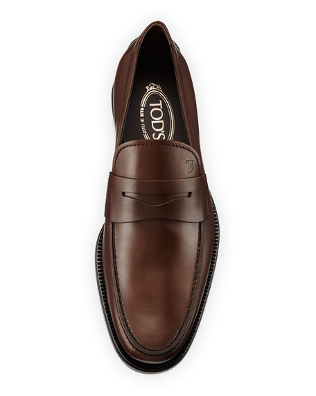 Leather Penny Loafer, Brown