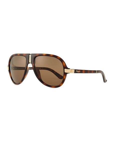 Foldable Gladiator Sunglasses, Black