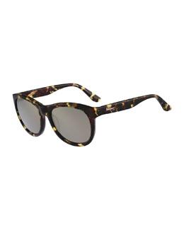 Square Plastic Sunglasses, Vintage Tortoise