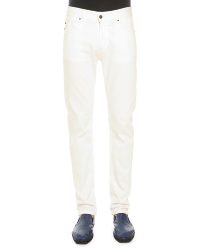 White Five-Pocket Jeans