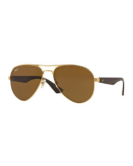 Aviator Sunglasses, Brown
