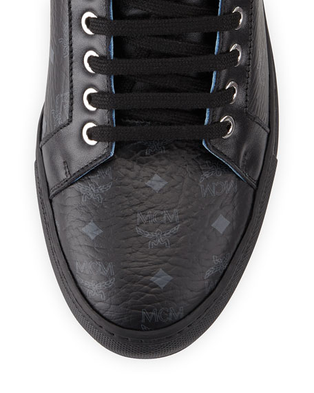 Monogrammed High-Top Sneaker, Black