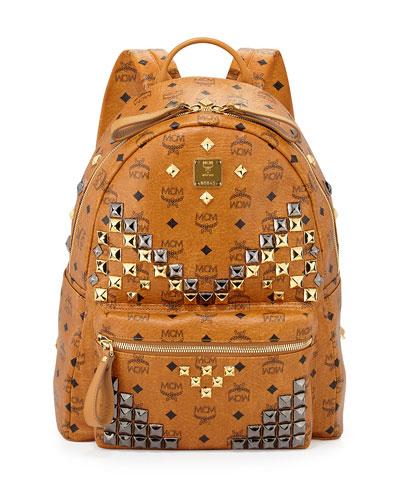 Stark M Stud Medium Backpack, Cognac