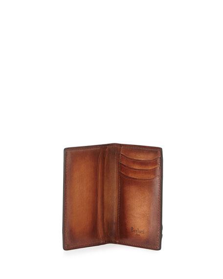 Bi-Fold Leather Card Case, Red