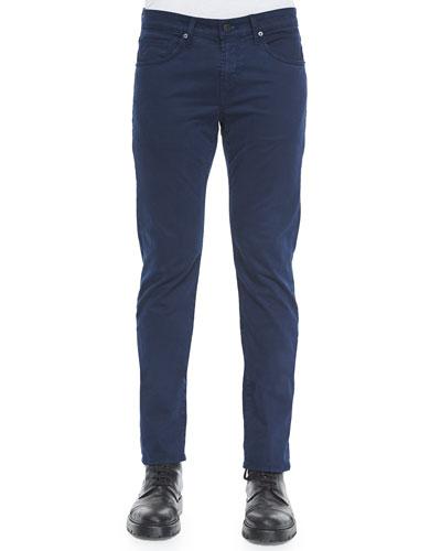 Kane Straight-Leg Crown B Jeans, Navy