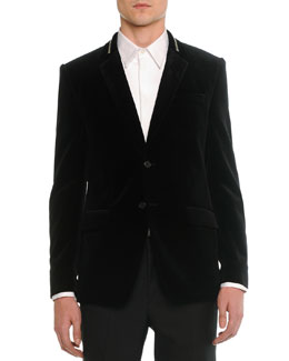 Velvet Evening Jacket, Black