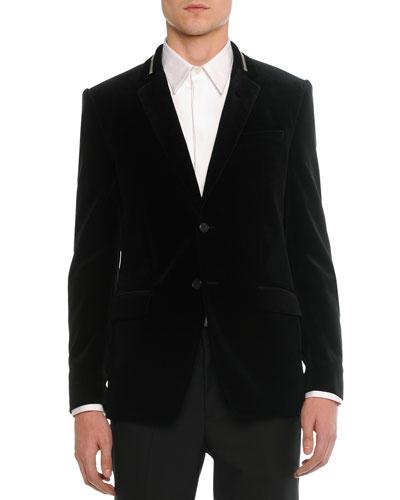 Velvet Evening Jacket, Black