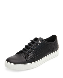 Captoe Honeycomb-Print Shoe, Black
