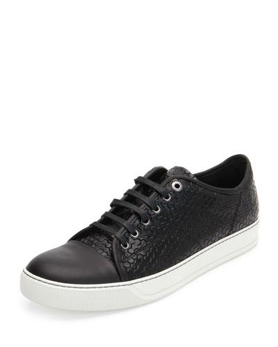 Captoe Honeycomb-Print Shoe, Black