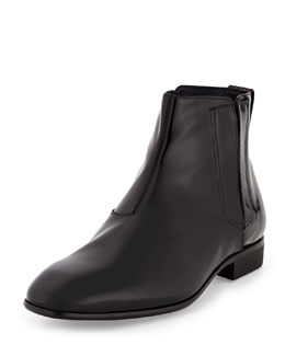 Mister Patent Leather Hidden-Gore Chelsea Boot, Black
