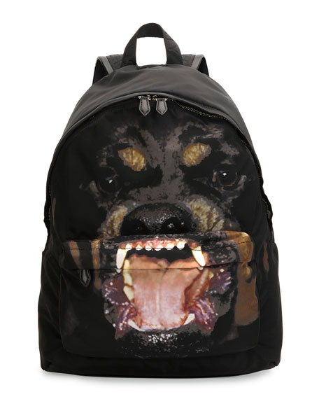 Rottweiler Nylon Backpack, Black