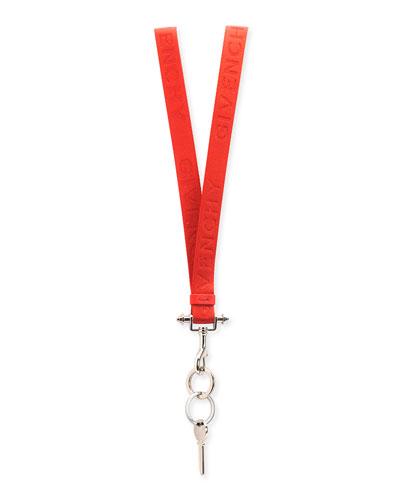 Lanyard Key Ring Necklace, Red