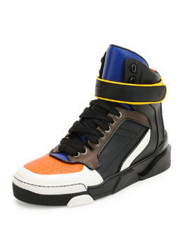 Tyson Leather High-Top Sneaker, Multi